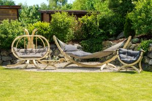 Amazonas Fat hammock og Globo møbler.