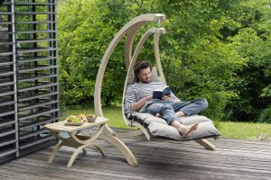 Amazonas Swing Lounger i farven anthracit.