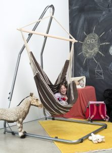 Amazonas Luna Rockstone stand for hang chairs.