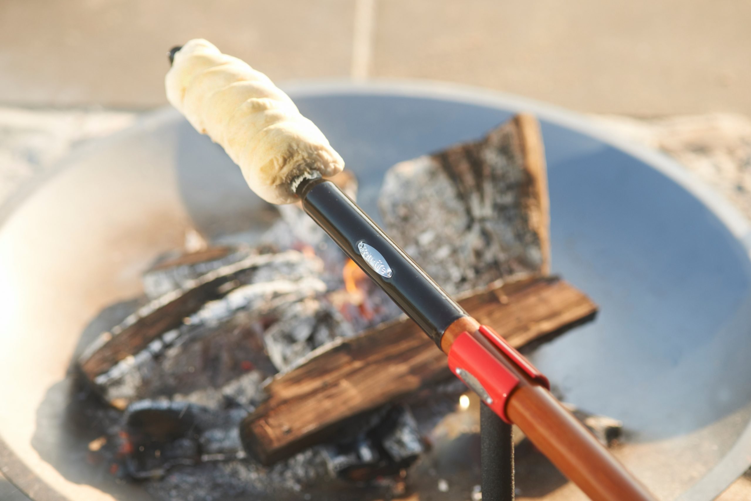 Bon-fire Brazier in steel and Twist bread stick plus matching Holder for the Twist bread stick.