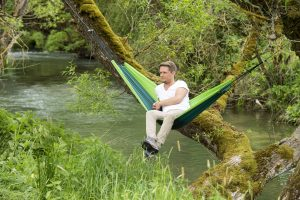 Amazonas Ultra-light Silk Traveller forest hammock.