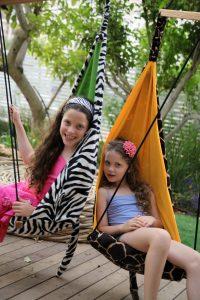 Amazonas Hang Mini zebra kid's hang chair.