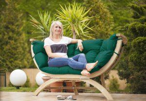 Amazonas Siena Due verde sofa.